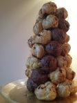 chocolate swirl croquembouche