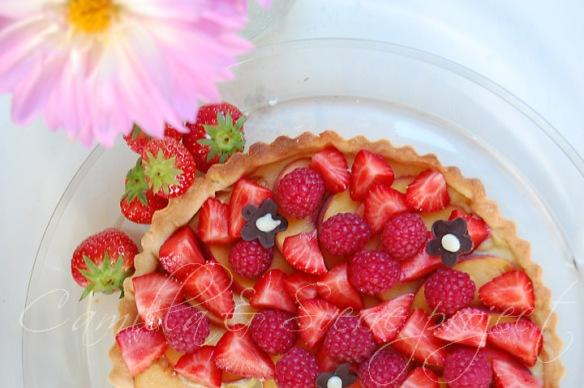 frukt bær terte